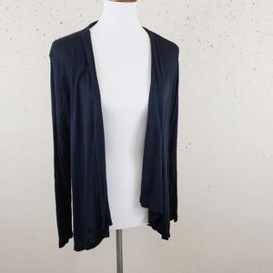 Acemi Black Light Weight Open Cardigan Size L